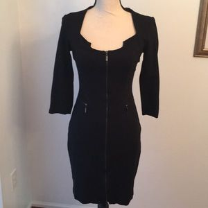 CACHE size 2 black form fitted dress.